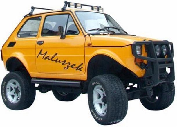 "Fiat 126p ""terenowy"" (fot. http://sedina.pl/wordpress/index.php/2010/05/13/moto-noc-muzeow-2010/)"