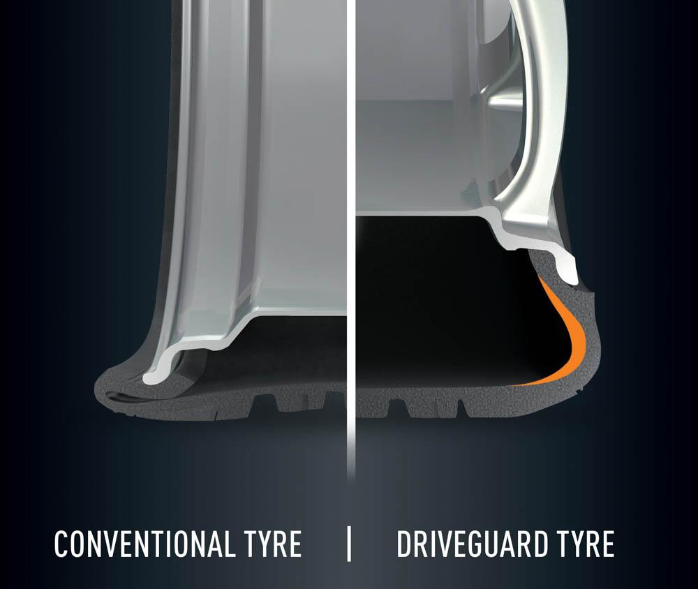 Bridgestone DriveGuard, driveguard, bridgestone, opona odporna na przebicie