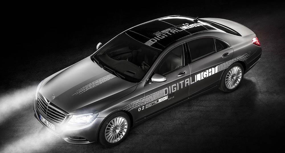 Mercedes digital lights, mercedes klasy s, mercedes maybach