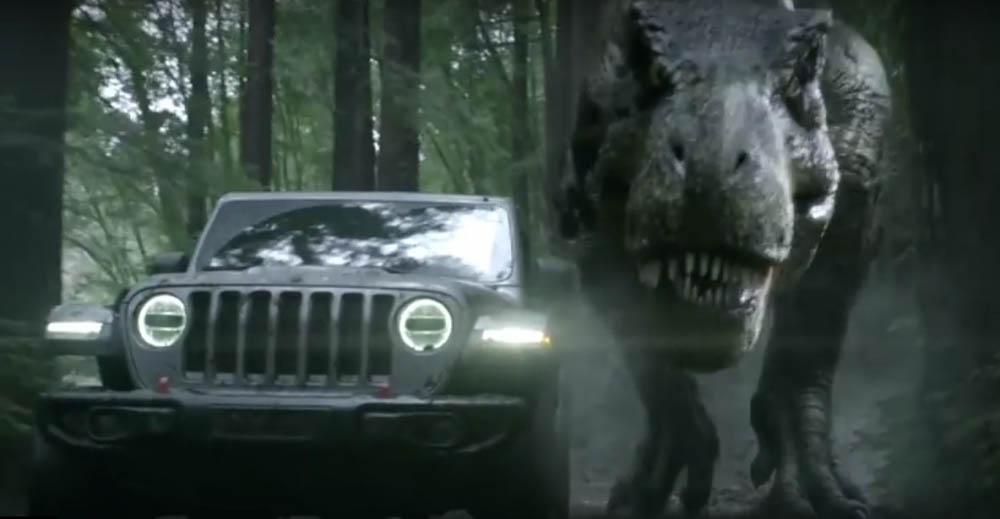 Jeep Wranlger Na Super Bowl T Rex Mu Niestraszny