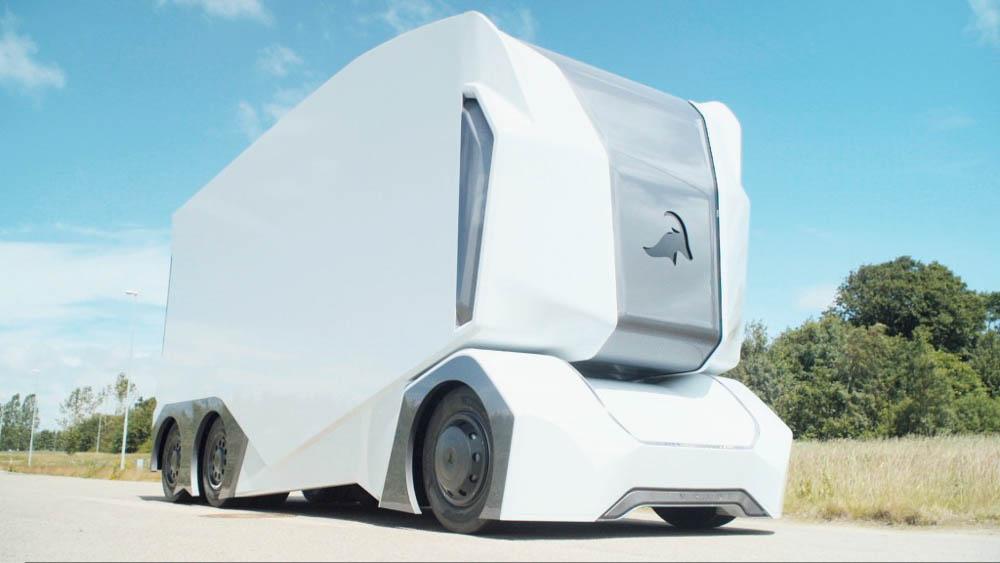 elektryczna ciężarówka, ciężarówka bez kierowcy, ciężarówka autonomiczna, ciężarówka Nvidia