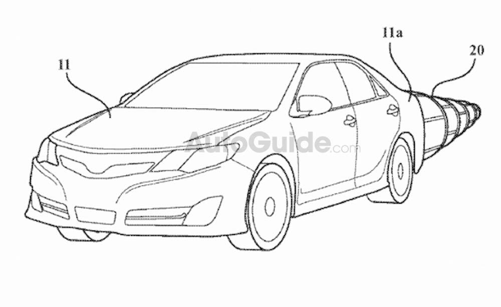 toyota aerodynamika, toyota patent